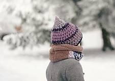 Detské doplnky - Sněží na veverku béžovošedý - holčičí - 11267610_
