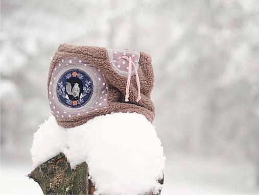 Sněží na veverku béžovošedý - holčičí