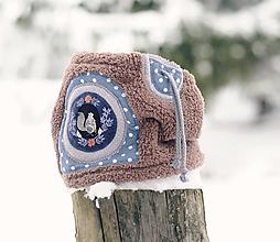 Detské doplnky - Sněží na veverku béžovošedý - klučičí - 11267585_