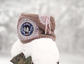 Detské doplnky - Sněží na veverku béžovošedý - holčičí - 11267599_