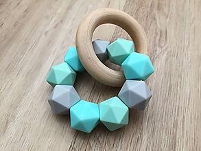 "Detské doplnky - Hryzátko ""Bluish Icosahedron"" - 11262997_"