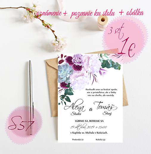 Svadobné oznámenie S57