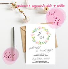 Papiernictvo - Svadobné oznámenie S61 - 11264294_