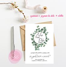 Papiernictvo - Svadobné oznámenie S66 - 11264377_