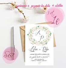 Papiernictvo - Svadobné oznámenie S67 - 11264393_