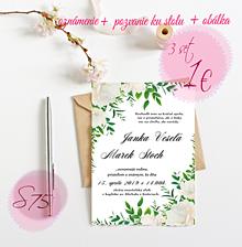 Papiernictvo - Svadobné oznámenie S75 - 11264548_