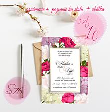Papiernictvo - Svadobné oznámenie S76 - 11264554_