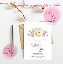 Papiernictvo - Svadobné oznámenie S81 - 11264647_
