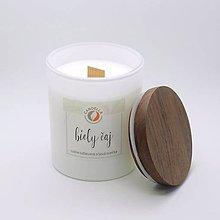 Svietidlá a sviečky - Biely čaj - sójová sviečka - 11266989_