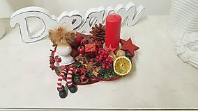 Dekorácie - Vianočná ikebana - 11267550_