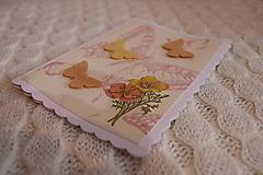 Papiernictvo - Pohľadnica s motýľmi - 11265794_