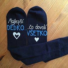 """Obuv - Maľované ponožky s nápisom: """"Najlepší dedko, čo dovolí všetko"""" - 11265088_"""