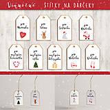 Grafika - Vianočné štítky na darčeky - 11263649_