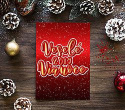 Grafika - Veselé Vianoce typografia - 11267267_