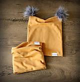 Detské čiapky - Rožkatá čiapka s brmbolcami na mieru - 11265955_