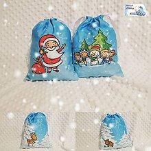Úžitkový textil - Vianočné vrecká Santa, Snehuliak - 11267658_