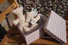 Hračky - súprava ...hračiek staroružová v krabičke - 11264152_