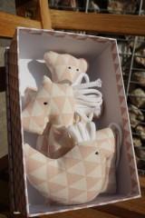 Hračky - súprava ...hračiek staroružová v krabičke - 11264153_