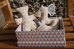 Hračky - súprava ...hračiek staroružová v krabičke - 11264156_