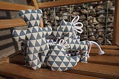 Hračky - súprava ...hračiek modrá v krabičke - 11265014_