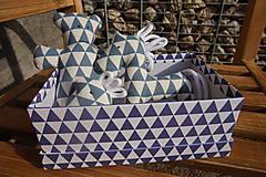 Hračky - súprava ...hračiek modrá v krabičke - 11265016_