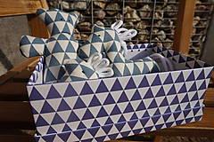 Hračky - súprava ...hračiek modrá v krabičke - 11265017_