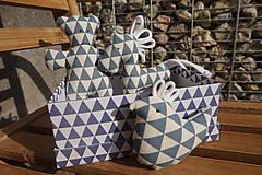 Hračky - súprava ...hračiek modrá v krabičke - 11265020_
