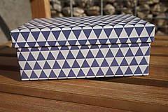 Hračky - súprava ...hračiek modrá v krabičke - 11265025_