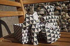 Hračky - súprava ...hračiek sivá? v krabičke - 11265037_
