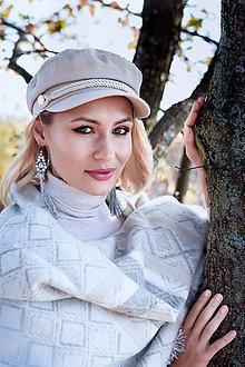 Náušnice - Strapcové náušnice sivo-modré / tassel earrings - 11265369_