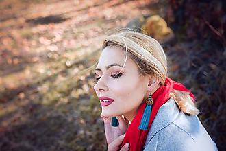 Náušnice - Elegantné strapcové náušnice / tassel earrings - 11265435_