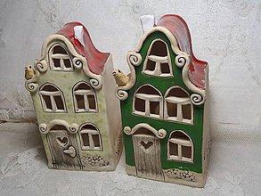 Dekorácie - keramika svietnik domček.. - 11265263_