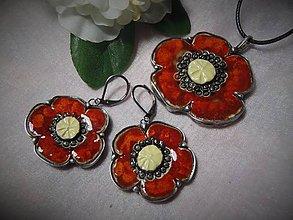 Sady šperkov - keramika ..prívesok s náušničkami.. - 11265505_