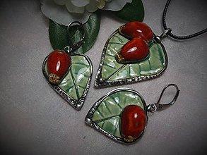 Sady šperkov - keramika ..prívesok s náušničkami.. - 11265513_