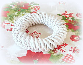 Košíky - Vianočný venček na ozdobenie - 11265840_