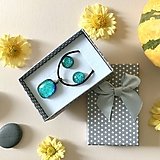 Sady šperkov - Maldives tyrkysová sada sklenených šperkov - 11263045_