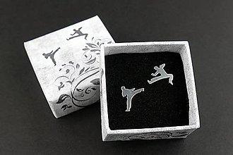 Náušnice - Karate napichovačky - 11267549_