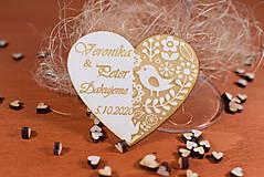 Darčeky pre svadobčanov - Drevená svadobná magnetka Ľudový motív 25 - 11264106_