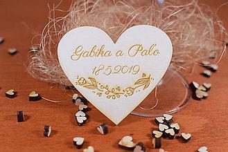 Darčeky pre svadobčanov - Drevená svadobná magnetka Ľudový motív 24 - 11264100_
