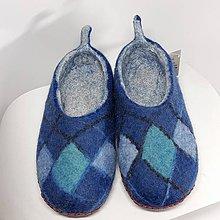 Iné - Pánske vlnené plstené papuče - 11267795_