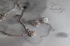 Sady šperkov - strieborný set so zirkónom - MONOCHROM - 11265063_