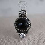 Prstene - strieborný prsteň s obsidiánom (pre EMO princeznú) - 11265257_