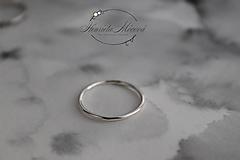Prstene - strieborný prsteň pre rockovú princeznú - 11265341_