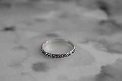 Prstene - strieborný prsteň pre rockovú princeznú - 11265347_