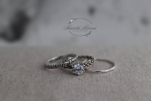Prstene - strieborný prsteň pre rockovú princeznú - 11265320_