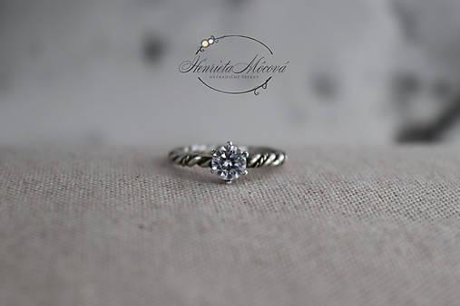 Prstene - strieborný prsteň pre rockovú princeznú (duo filigree) - 11265354_
