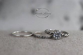 Prstene - strieborný prsteň pre rockovú princeznú - 11265357_