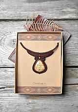Náhrdelníky - Náhrdelník aragonit •Čaro jeseného lístia• - 11264735_