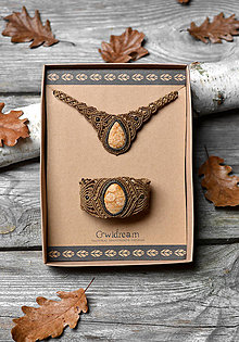 Sady šperkov - Sada šperkov koralová fosília •Zlatistá jeseň• - 11264521_