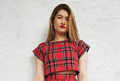 Topy - Károvany  crop top - 11270536_